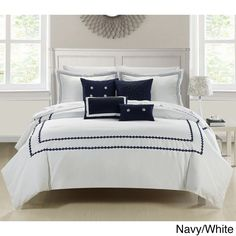 This lavish comforter set comes with everything you need to do a complete makeover for your master or guest suite.