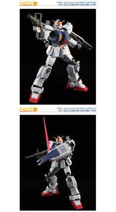 HG Gundam Ground Type - Customized Build Modeled by NGT Factory Japan Ground Type, Real Robots, Mobile Suit, Rey, Gundam, Japan, Hguc, Building, Board