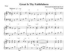 $1.50 Harp Music: Great Is Thy Faithfulness for Harp
