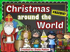 Travel around the world with your students and learn how children celebrate Christmas, Hanukkah and Kwanzaa in different countries with these Christmas Around the World NO PREP printables! These worksheets are the perfect addition to your Christmas/Holidays Around the World celebration!These printables partner perfectly with my Christmas Around the World PowerPoints!
