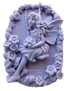 Fairy Swing in the Flowers Handcrafted Novelty Soap Bar by Just Bath And Body Stuff / JBABS Hotel Supplies, Best Soap, Beautiful Fairies, Wax Melts, Soaps, All The Colors, Bath And Body, Periwinkle, Purple