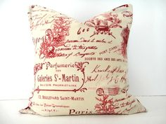 WEEKLY SPECIAL 10.00 Pillow Cover French Red Sand by PookieandJack