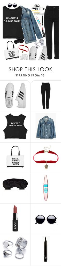 """Untitled #1810"" by anarita11 ❤ liked on Polyvore featuring adidas, Topshop, Madewell and Maybelline"