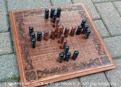 Hnefatafl Game Viking Chess King's Table door IGNITEDArtsDesign