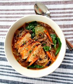 Panera's Soba Noodle Broth Bowl with Chicken - Copy Cat Recipe  This is amazing!!!!!!!