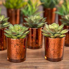 David Tutera Copper Mercury Glass Votive Holders Find rustic glam wedding decorations like this beautiful David Tutera™ copper mercury glass votive cup. These charming spotted copper votive candle holders will give your bohemian reception a romantic glow! #afloral