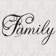 Family Vinyl Wall Lettering Decal Quote Home Decor
