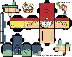Papercraft Lana Loud by sybergamer16.deviantart.com on @DeviantArt