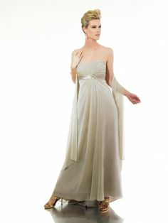 Chiffon Sweetheart Emprie Waist Floor-Length A-line Bridesmaid Dress