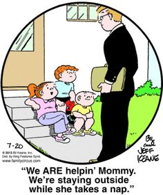 Family Circus for 7/20/2013 | Family Circus | Comics | ArcaMax Publishing Love My Family, Family Circle, Family Guy, Family Circus Cartoon, Funny Images, Funny Photos, Parenting Humor, Funny Cartoons, Funny Dogs