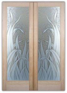 Etched Glass Interior Door   Interior Glass Doors With Frosted Glass Reeds    Interior Glass Doors Or Glass Door Inserts. Brighten The Look With A  Beautiful ...