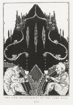 Harry Clarke - 1925, The Two Distilleries on the Same Hill, for Warren, Elixir of Life