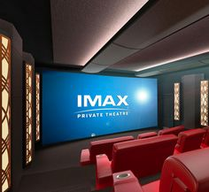 IMAX Private Theater brings the immersive IMAX entertainment system into your home. They offer turnkey plans at various levels for . Home Theater Room Design, Home Cinema Room, Home Theater Decor, Best Home Theater, At Home Movie Theater, Home Theater Speakers, Home Theater Rooms, Home Theater Projectors, Home Theater Seating