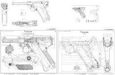 Bildergebnis für models of weapons. Luger Pistol, Gun Art, House Blueprints, Technical Drawing, Guns And Ammo, War Machine, Firearms, Weapons, Construction