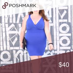 Bodycon dress size size 20 cobalt Stretchy bodycon dress from Torrid size 20 new with tags worn once for photoshoot Dresses Midi