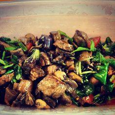 Salade met biefstuk en paddenstoelen - Francesca Kookt