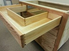 The custom sink drawer...love!