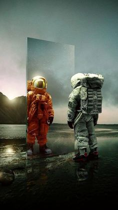 Doorway To Another Dimension Fantasy World, Fantasy Art, Astronaut Wallpaper, Astronauts In Space, Matte Painting, Space Exploration, Sci Fi Art, Photomontage, Cool Pictures