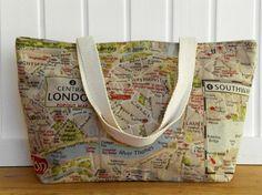 Tote Bag london map