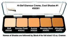 Graftobian Creme Foundation Cool Shades #1 Palette