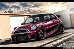 Pink mini cooper i have always wanted a race car n when i saw Stomp The Yard i fell in love with the car n i want it soo bad but  gotta work slight work!