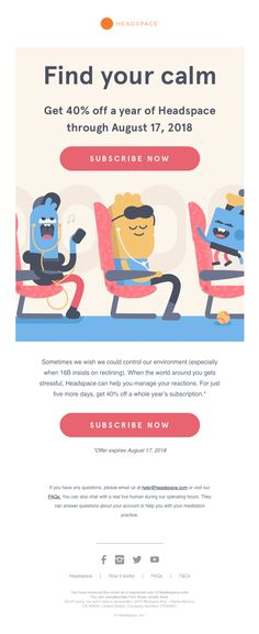 The Best Email Designs in the Universe (that came into my inbox) Html Email Design, Best Email, Day Left, Email Newsletters, Email Templates, Letting Go, Finding Yourself, Universe, Stress