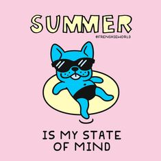 Summer is my STATE OF MIND! French Bulldog tees, towels, accessories & more!
