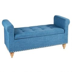 One of my favorite discoveries at ChristmasTreeShops.com: Queen Anne Upholstered Storage Bench with Nailheads
