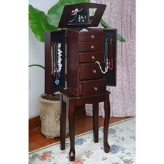 Traditional Style Espresso Jewelry Armoire Chest - List price: $149.00 Price: $62.99 Saving: $86.01 (58%)