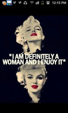 being a woman :) marilyn monroe words Fabulous Quotes, Great Quotes, Inspirational Quotes, Quotes Quotes, Faith Quotes, Motivational, Marilyn Monroe Quotes, Norma Jeane, Monday Motivation