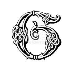 Celta letra G ilustración de stock libre de derechos