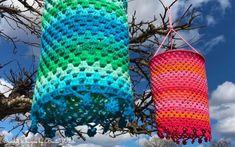 Mina virkade lanternor för trädgården. By BautaWitch. Namaste, Diy Crafts, Blog, Gypsy, Bohemian, Crocheting, Blinds, Blogging, Diy Home Crafts