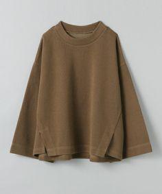 JEANASIS(ジーナシス)の【先行予約】リブワイドスリーブプルオーバーLS/705667(Tシャツ/カットソー) ブラウン