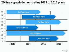 2d Linear Graph Demonstrating 2013 To 2016 Plans PowerPoint Templates Ppt Slides Graphics - PowerPoint Diagram