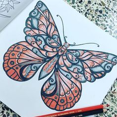 #Repost @asmascolors with @repostapp  Mission complete  #red #black #butterfly #color #coloringbook #art #hobby #arttherapy #kohinoor #coloringpencils #pencils #magical #jungle #magicaljungle #johannabasford #work #done #missioncomplete #bayan_boyan