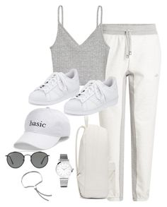 """Untitled #3638"" by theaverageauburn ❤ liked on Polyvore featuring H&M, adidas, Larsson & Jennings, Monica Vinader, Ray-Ban, SO and PB 0110"