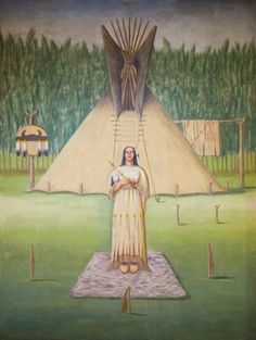 The White Buffalo Calf Maiden was sent by the Great Spirit to teach the buffalo people of the Plains to live in harmony with all the world. Lakota means roughly, 'interconnectedness' and was adopted as a new name for the peoples of the Plains who embraced the maiden's teachings.