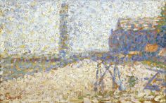 Georges Seurat - Hospice and Lighthouse of Honfleur Impressionist Paintings, Impressionism, Oil Paintings, Honfleur, Georges Seurat, Beauty In Art, Pointillism, French Art, Art Auction