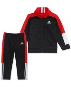 6fa92803f8d5 adidas Baby Boys 2-Piece Track Jacket   Pants Set   Reviews - Sets    Outfits - Kids - Macy s