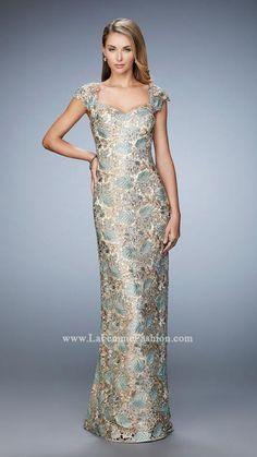 f22fd14ee9efd La Femme 22984 | La Femme Lace Evening Gowns, Sherri Hill Prom Dresses, Mob