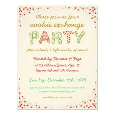 Shop Cookie Exchange Swap Party Invite w/ Instructions created by circlealine. Personalize it with photos & text or purchase as is! Christmas Dinner Invitation, Holiday Party Invitation Template, Cocktail Party Invitation, Printable Invitation Templates, Christmas Party Invitations, Christmas Party Activities, Christmas Gift Exchange, Christmas Holiday, Swap Party