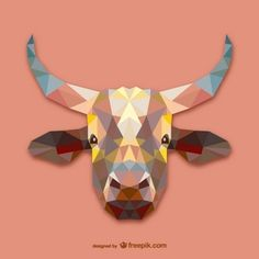 Triangle cow design