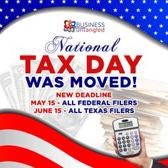 In case you missed it, Tax Day in Texas has been moved to June 15th while the rest of the USA is scrambling to file by May 15th. 💁♀️ This means that you still have time to calculate your deductibles - OR file an extension! ⏳ 🧮 📅 For help with this year, past years, or beyond, call Business Untangled today! 📱 👍 Visit www.businessuntangled.com or call 469-458-0447 We will help you find legal deductions you did not know you had! 😊 👌 . . . . . #business_untangled #ustaxdeadline National Tax Day, Still Have, Have Time, Us Tax, Deduction, Knowing You, June, Rest