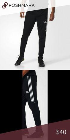 adidas donne tiro 17 formazione pantaloni nero / bianco pinterest