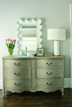 DIY Painted White And Gold Furniture: Amy Howard At Home One Step Paint