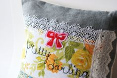 Pillow cover  Pretty Darling by LeiLiLaLoo on Etsy, $34.00