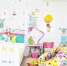 "Image of ""Indi"" Unicorn Baby Bedroom, Girls Bedroom, Bedroom Decor, Bedroom Ideas, Kids Play Spaces, Daughters Room, Little Girl Rooms, Nursery Neutral, Modern Kids"