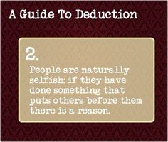 A guide to deduction. 2