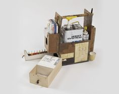 Resin Kit 2005 mixed media 17 x 20 x 10 in. Room Wanted, Diy Workshop, Wooden Crates, Tool Storage, Easy Diy Projects, Tool Box, Sculpture Art, Toms, Exhibitions