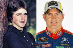 Bobby Labonte and his yearbook photo.